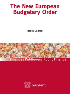 cover image of The new European Budgetary Order