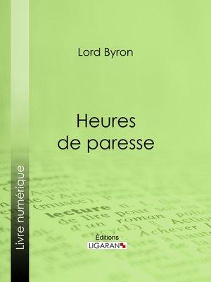 cover image of Heures de paresse