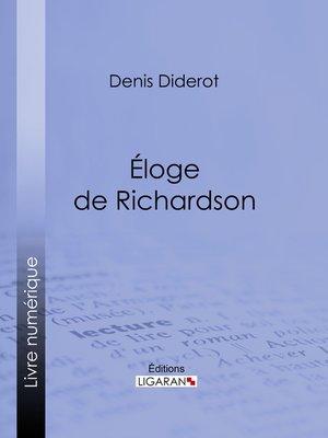 cover image of Éloge de Richardson