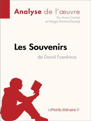 cover image of Les Souvenirs de David Foenkinos (Analyse de l'oeuvre)