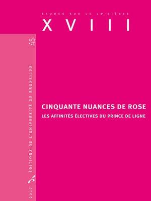 cover image of Cinquante nuances de rose