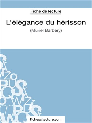 cover image of L'élégance du hérisson