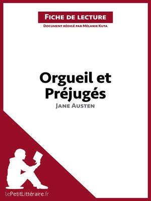 cover image of Orgueil et Préjugés de Jane Austen (Fiche de lecture)