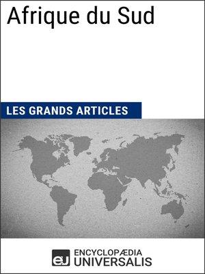 cover image of Afrique du Sud (Les Grands Articles d'Universalis)