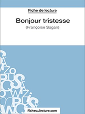 cover image of Bonjour tristesse
