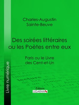 cover image of Des soirées littéraires ou les Poètes entre eux