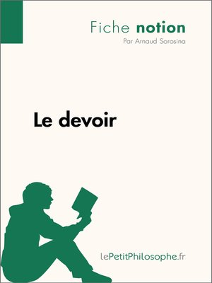 cover image of Le devoir--Fiche notion