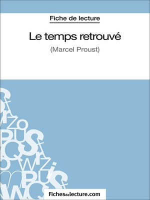 cover image of Le temps retrouvé