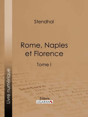 cover image of Rome, Naples et Florence