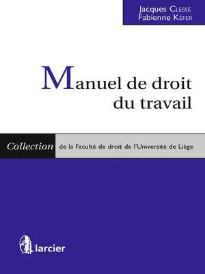 cover image of Manuel de droit du travail