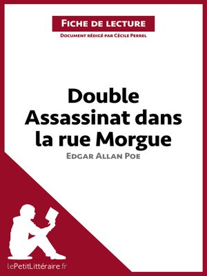 cover image of Double assassinat dans la rue Morgue d'Edgar Allan Poe (Fiche de lecture)