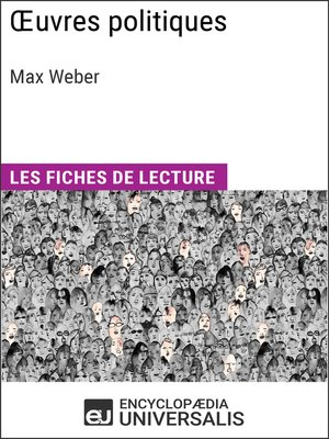 cover image of Oeuvres politiques de Max Weber