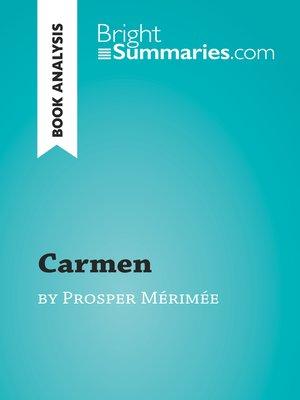 cover image of Carmen by Prosper Mérimée (Book Analysis)
