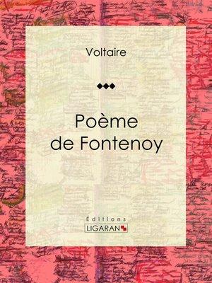 cover image of Poème de Fontenoy