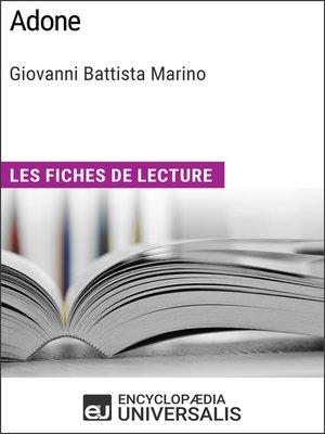 cover image of Adone de Giovanni Battista Marino