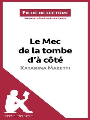 cover image of Le Mec de la tombe d'à côté de Katarina Mazetti (Fiche de lecture)