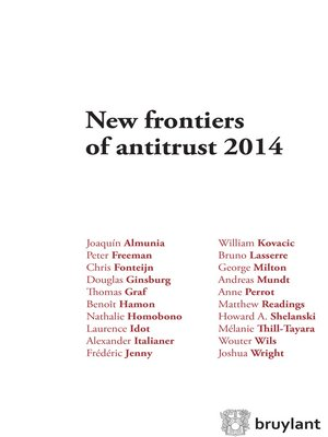 cover image of New Frontiers of Antitrust 2014