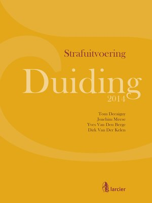 cover image of Duiding Strafuitvoering