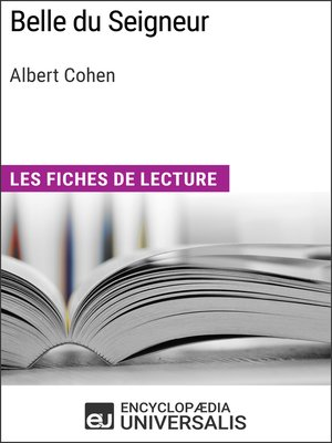 cover image of Belle du Seigneur d'Albert Cohen