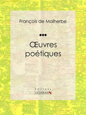 cover image of Oeuvres poétiques