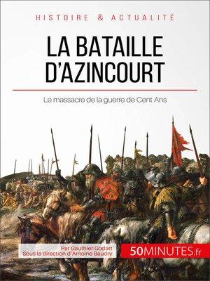 cover image of La bataille d'Azincourt