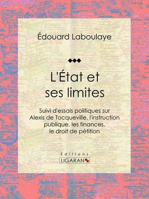 cover image of L'État et ses limites