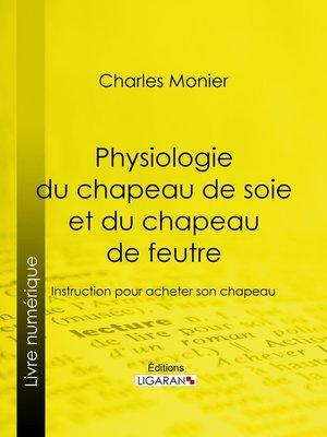 cover image of Physiologie du chapeau de soie et du chapeau de feutre