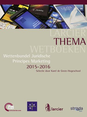 cover image of Wettenbundel juridische principes marketing