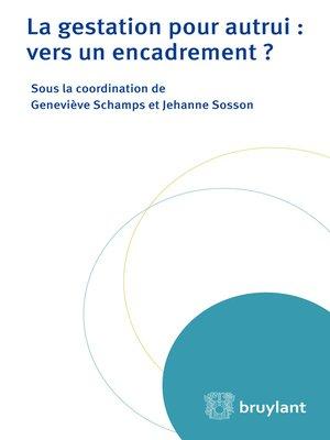 cover image of La gestation pour autrui