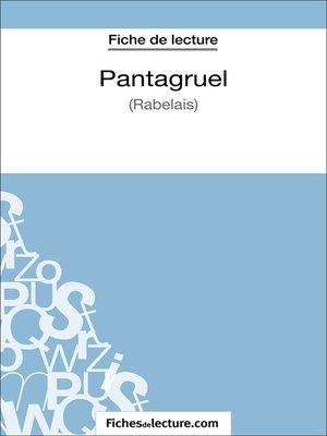 cover image of Pantagruel de Rabelais (Fiche de lecture)