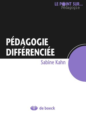 cover image of Pédagogie différenciée
