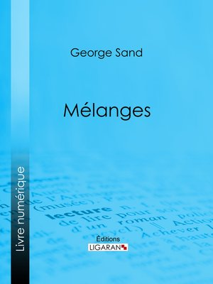 cover image of Mélanges