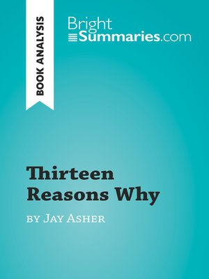 cover image of Thirteen Reasons Why by Jay Asher (Book Analysis)