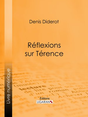 cover image of Réflexions sur Térence