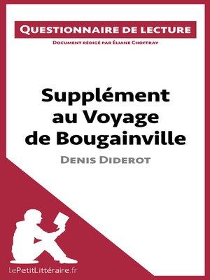 cover image of Supplément au Voyage de Bougainville de Denis Diderot