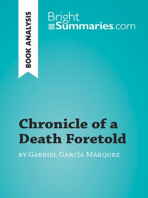 cover image of Chronicle of a Death Foretold by Gabriel García Márquez (Book Analysis)
