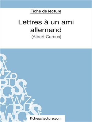 cover image of Lettres à un ami allemand