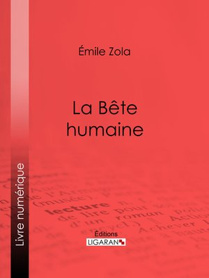cover image of La Bête humaine