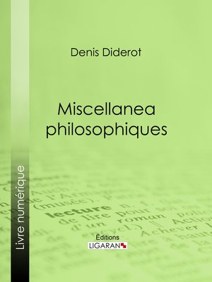 cover image of Miscellanea philosophiques