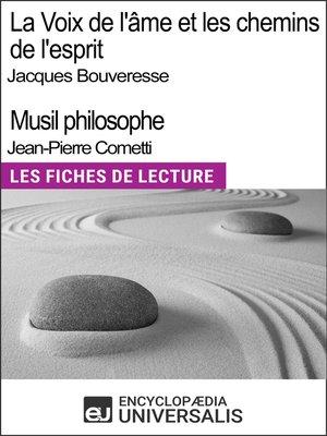 cover image of La Voix de l'âme de Jacques Bouveresse et Les chemins de l'esprit de Jean-Pierre Cometti