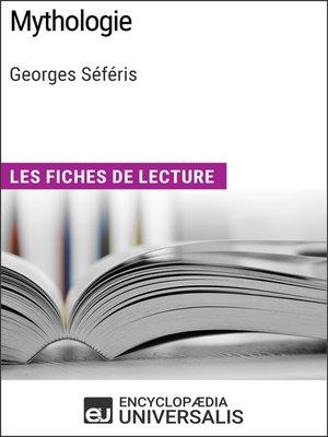 cover image of Mythologie de Georges Séféris