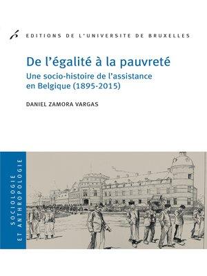 cover image of De l'égalité à la pauvreté