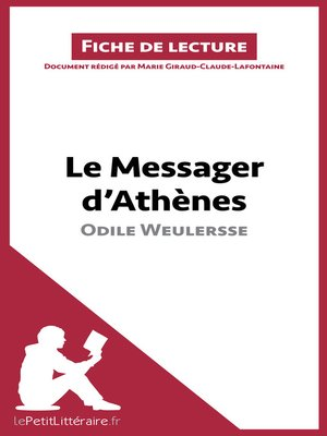 cover image of Le Messager d'Athènes d'Odile Weulersse