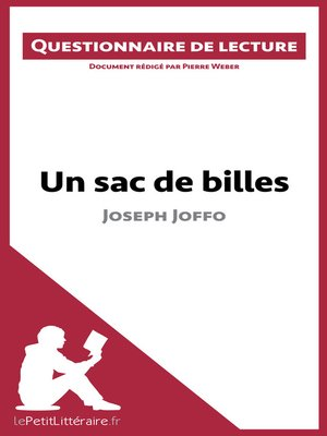 cover image of Un sac de billes de Joseph Joffo