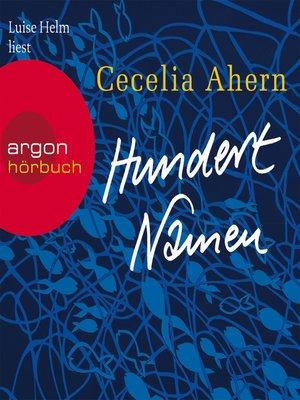 cover image of Hundert Namen