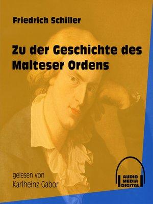cover image of Zu der Geschichte des Malteser Ordens