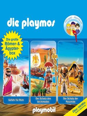 cover image of Die Playmos--Das Original Playmobil Hörspiel, Die große Römer- und Ägypterbox, Folge 5, 18, 52