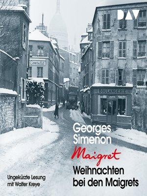 cover image of Weihnachten bei den Maigrets