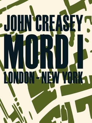 cover image of Mord i London--New York