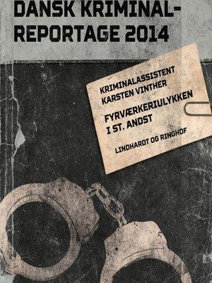 cover image of Fyrværkeriulykken i St. Andst--Dansk Kriminalreportage